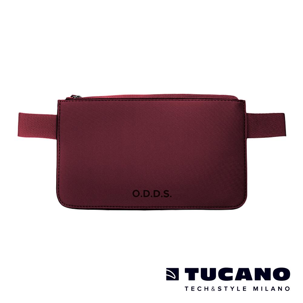 TUCANO X O.D.D.S. 潛水布防水防盜拉鍊式腰包-酒紅