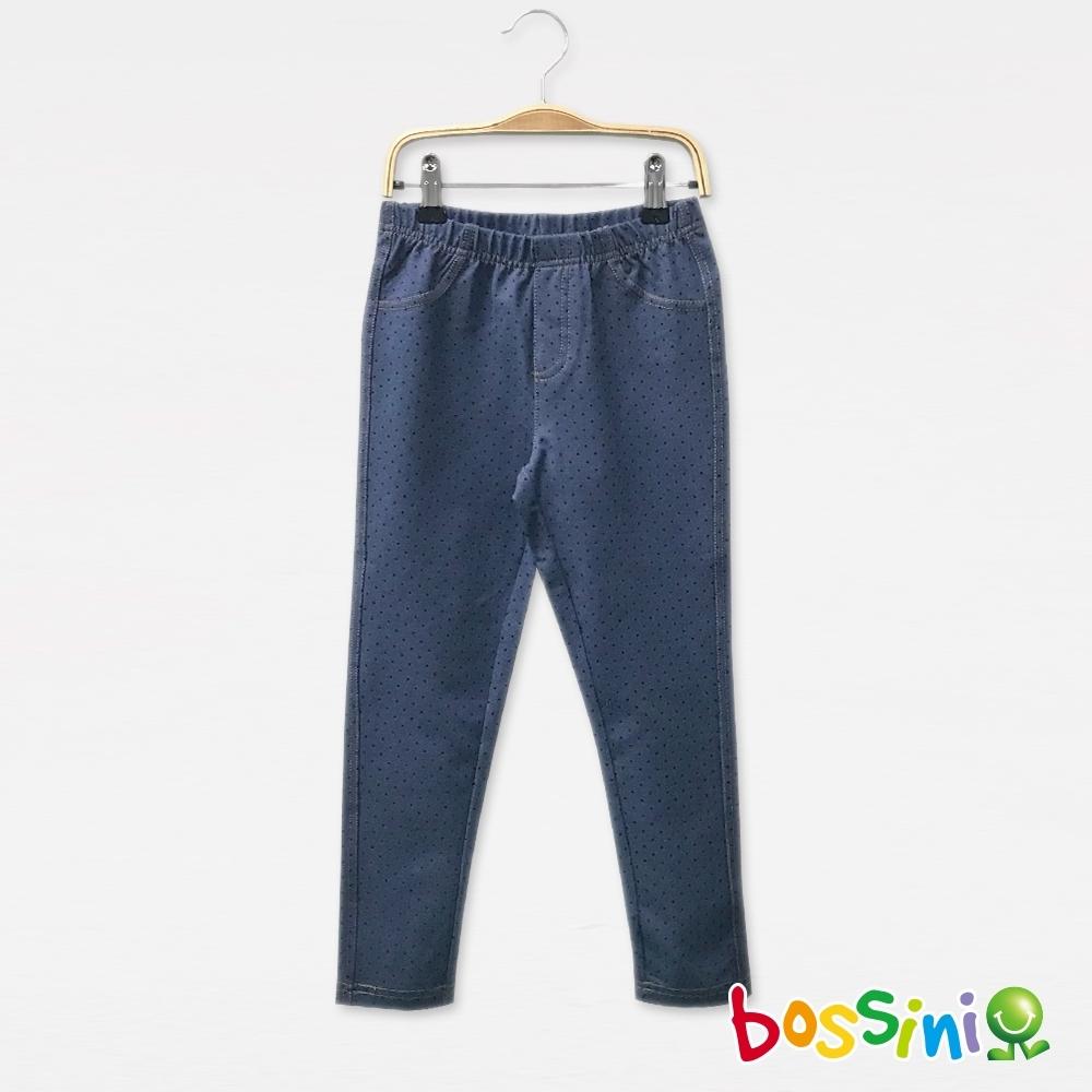 bossini女童-彈性輕鬆褲01淡藍