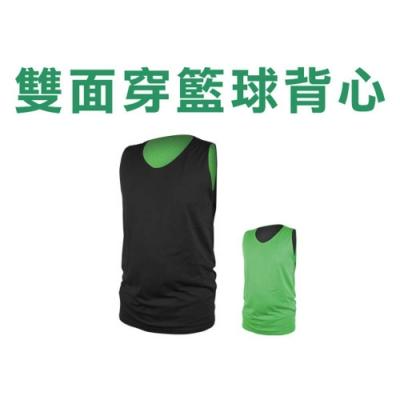 INSTAR 男女 雙面籃球背心 黑綠