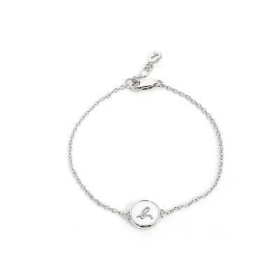 agnes b. b logo 珍珠母貝手鍊