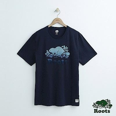 男裝Roots 庫柏漸層短袖T恤-藍