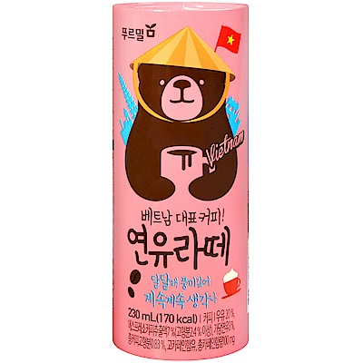 PURMIL Bear咖啡-拿鐵(230ml)