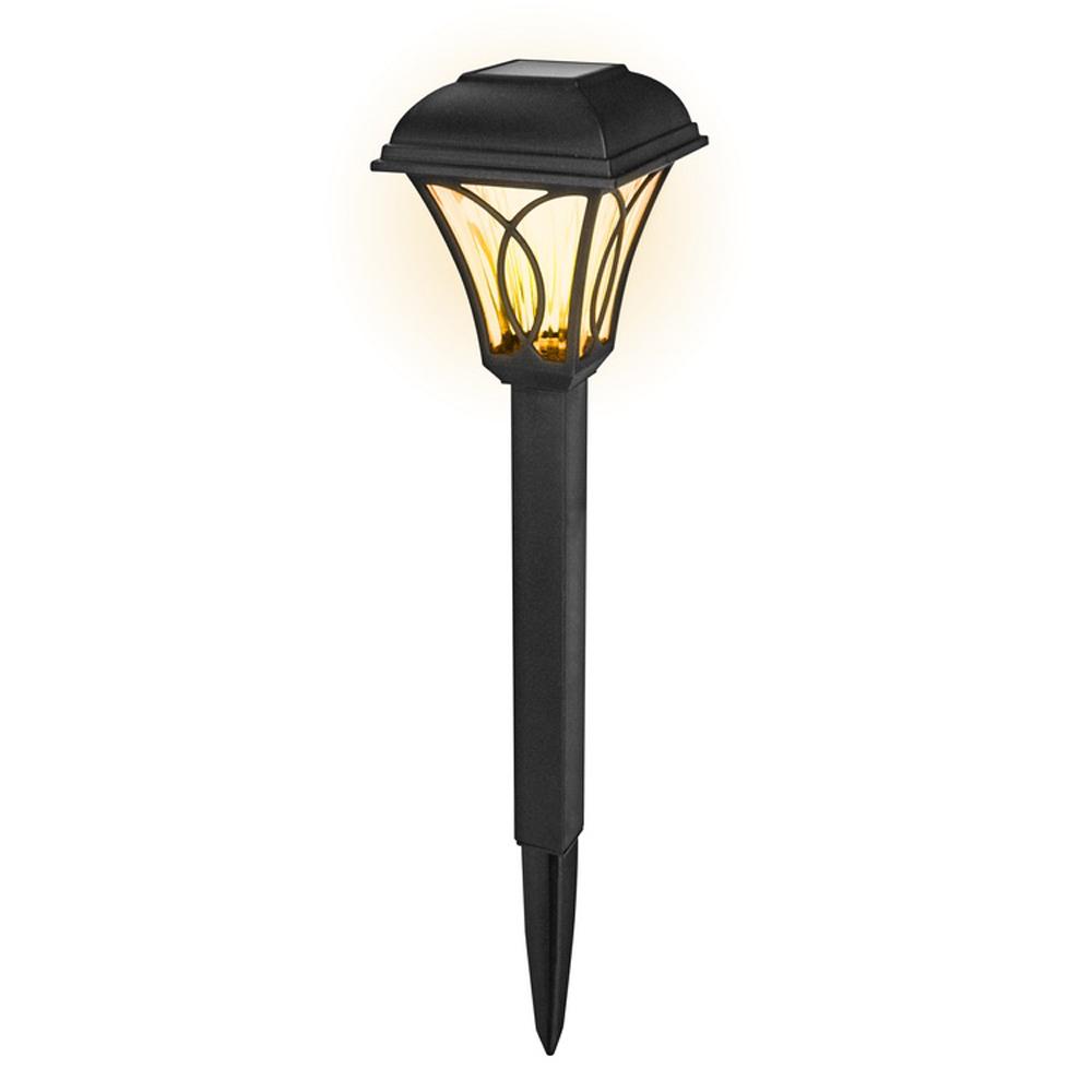 KINYO 太陽能光控黃光LED庭園燈