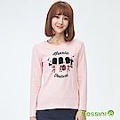 bossini女裝-印花長袖T恤01嫩粉