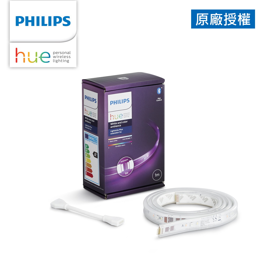 Philips 飛利浦 Hue 智慧照明 全彩情境 1M延伸燈帶 藍牙版(PH009)