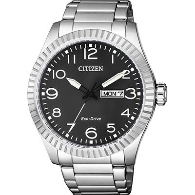 CITIZEN 星辰 限量光動能休閒手錶-灰x銀/42mm