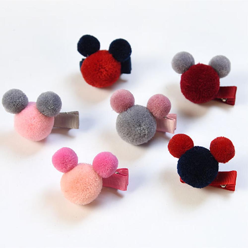Hera赫拉 可愛毛球兒童髮夾-隨機5入 @ Y!購物