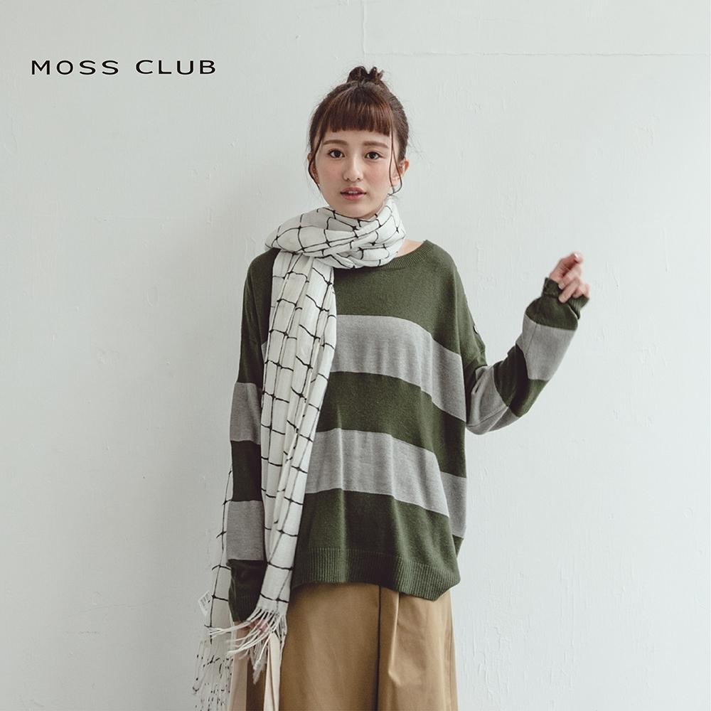 【MOSS CLUB】經典百搭條紋-針織衫(三色)