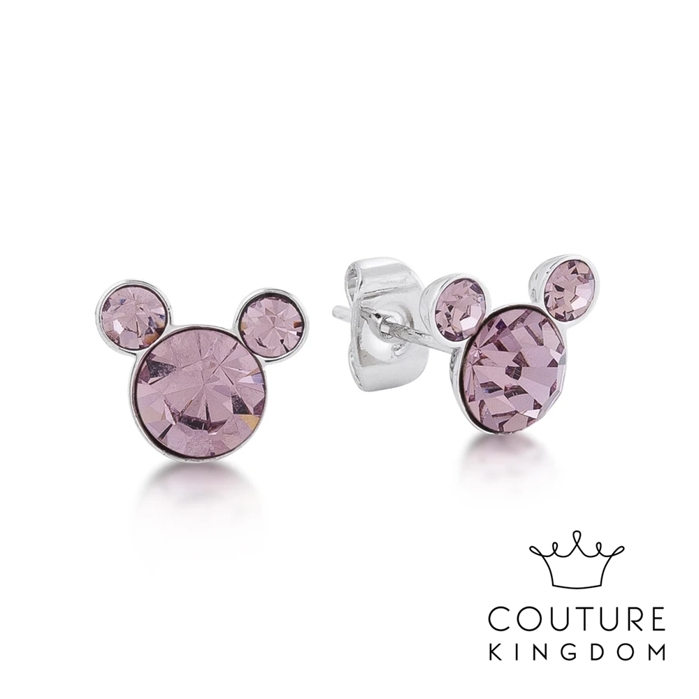 Disney Jewellery by Couture Kingdom 經典米奇粉紫水晶耳釘