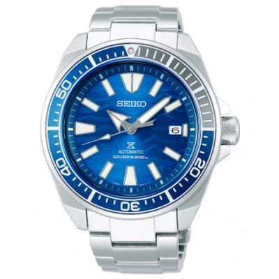 SEIKO 精工PROSPEX運動200米潛水機械錶SRPD23J1-藍X銀/43.8mm