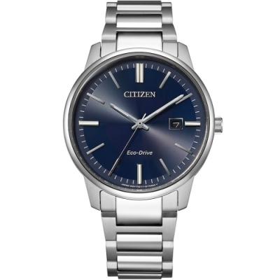 CITIZEN星辰 PAIR 對錶藍色錶面光動能39.0mm(BM7521-85L)