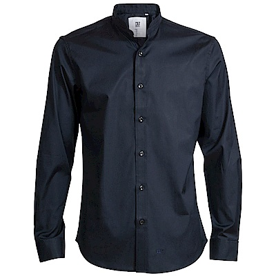 CR7-Slim Fit 法式立領黑色襯衫(8636-7200-49)