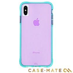 美國 Case-Mate iPhone XS Max Tough Neon 霓虹-藍綠/紫