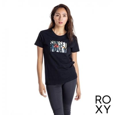 【ROXY】SUNSET ROXY T恤 黑色