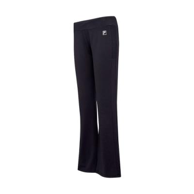 FILA 女萊卡針織長褲-黑色 5PNT-5607-BK