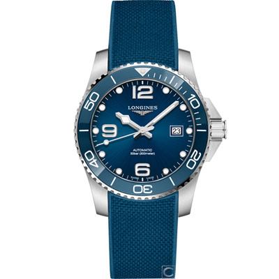 LONGINES 浪鬼 征服者系列陶瓷潛水機械錶(L37814969)藍/41mm