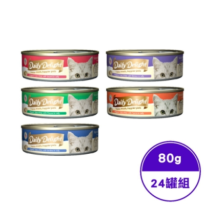 Daily Delight爵士貓吧-機能化毛餐- 80G(24罐組)