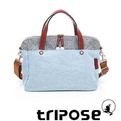 tripose 漫遊系列岩紋玩色兩用手提背包 湖水藍