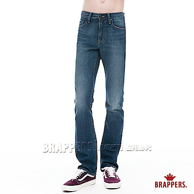 BRAPPERS 男款 HM中腰系列-直筒褲-藍