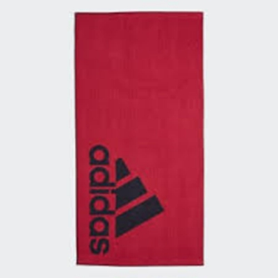 ADIDAS TOWEL L 運動大浴巾-DQ1814 黑紅色