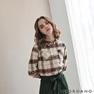 GIORDANO 女裝法蘭絨溫暖磨毛長袖襯衫-33 皎白/咖啡格紋