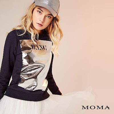 限時商品 | MOMA 金屬英文長袖上衣_2色