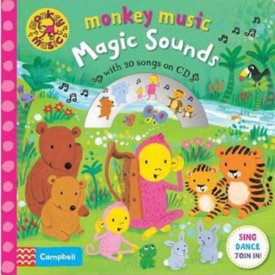 Monkey Music:Magic Sounds 猴子歡樂唱精裝有聲CD書