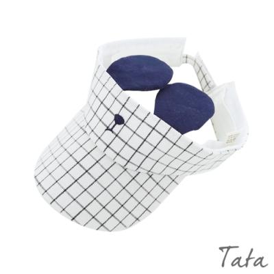 兒童造型耳朵格子遮陽帽 共二色 TATA KIDS