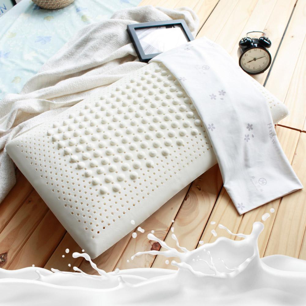 鴻宇 美國棉授權 防蹣抗菌標準型乳膠枕2入