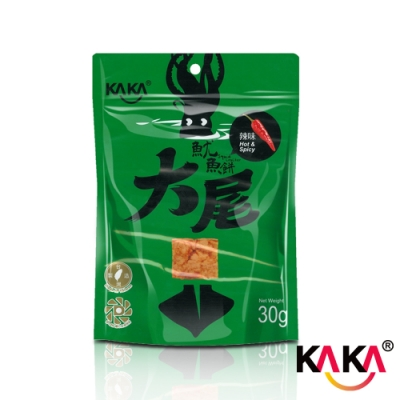 KAKA大尾魷魚餅(辣味)30g