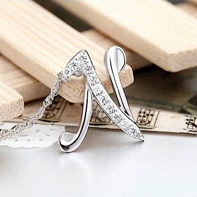 米蘭精品 925純銀項鍊-時尚簡約N英文字母