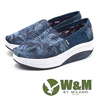 W&M(女) BOUNCE系列 夏季風情 透氣增高厚底鞋-藍