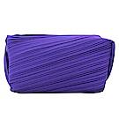 ISSEY MIYAKE 三宅一生 PP寬版褶紋化妝包(紫)