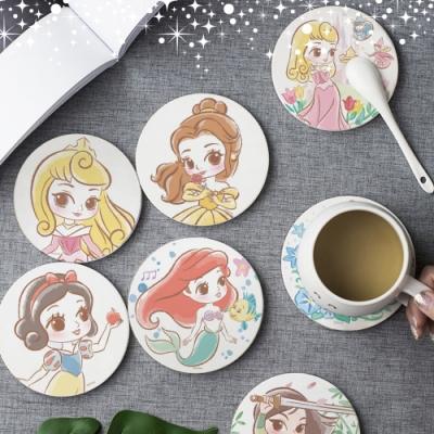 【收納皇后】迪士尼Disney 公主系列珪藻土杯墊 SGS認證 (八款)