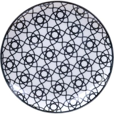 《Tokyo Design》瓷製餐盤(花繩黑16cm)