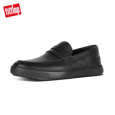FitFlop BOSTON LEATHER LOAFERS 輕量休閒鞋 黑色