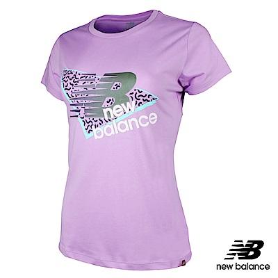 New Balance粉彩系列短袖T恤AWT91579DVG_女粉紫
