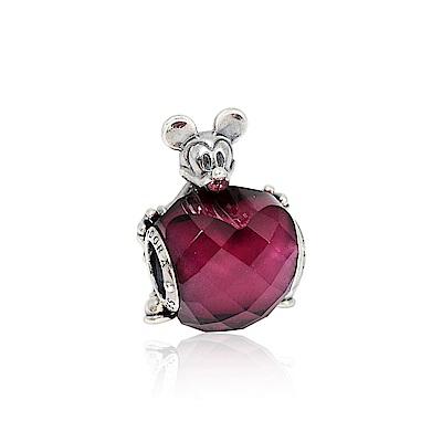 Pandora 潘朵拉 迪士尼系列米奇紅色水晶愛心 純銀墜飾 串珠