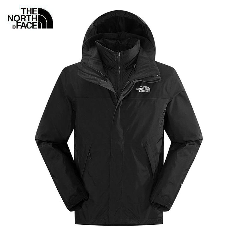The North Face北面男款黑色GORETEX三合一夾克|CTS2KX7