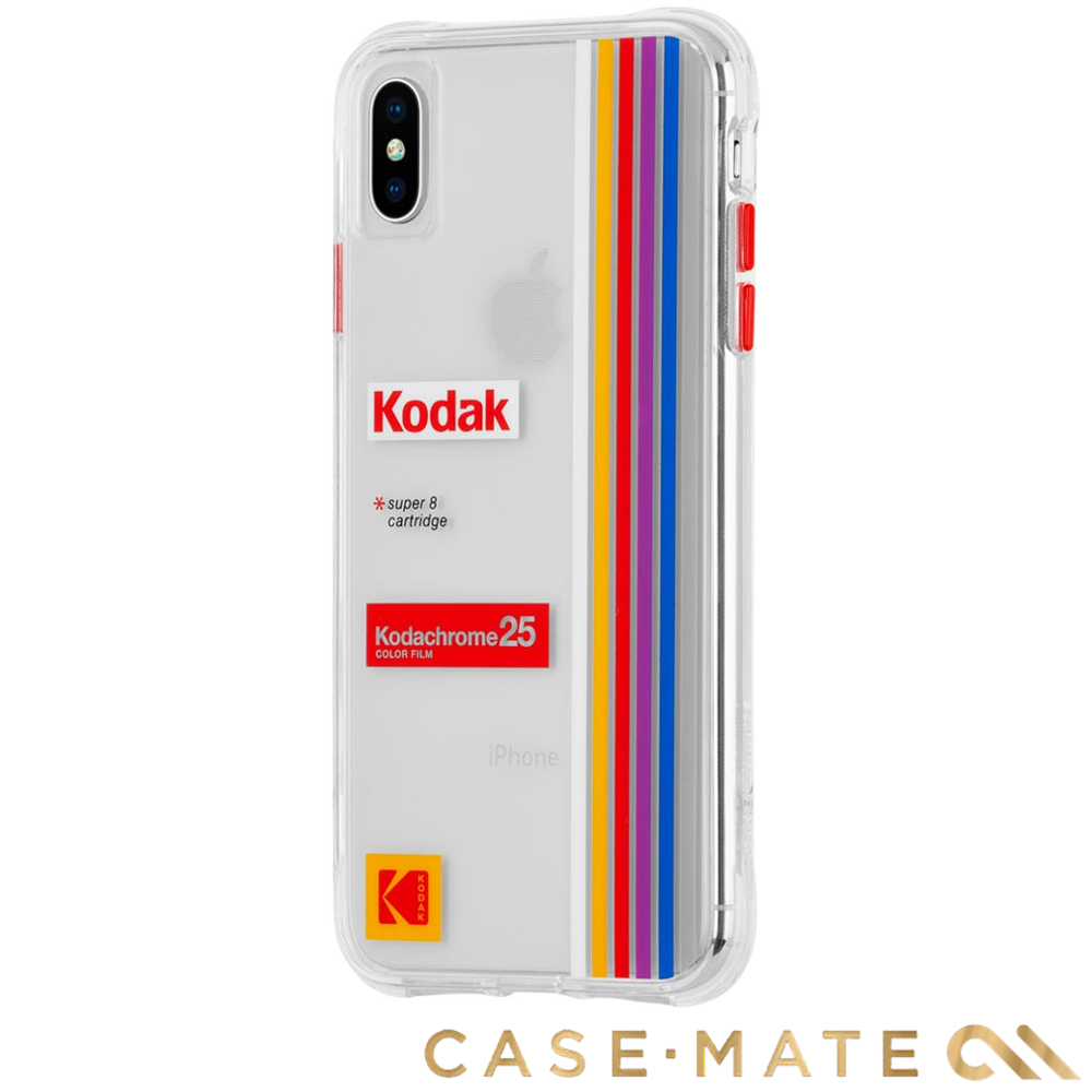美國 CASE●MATE iPhone XS Max Kodak柯達聯名款強悍防摔殼-透明