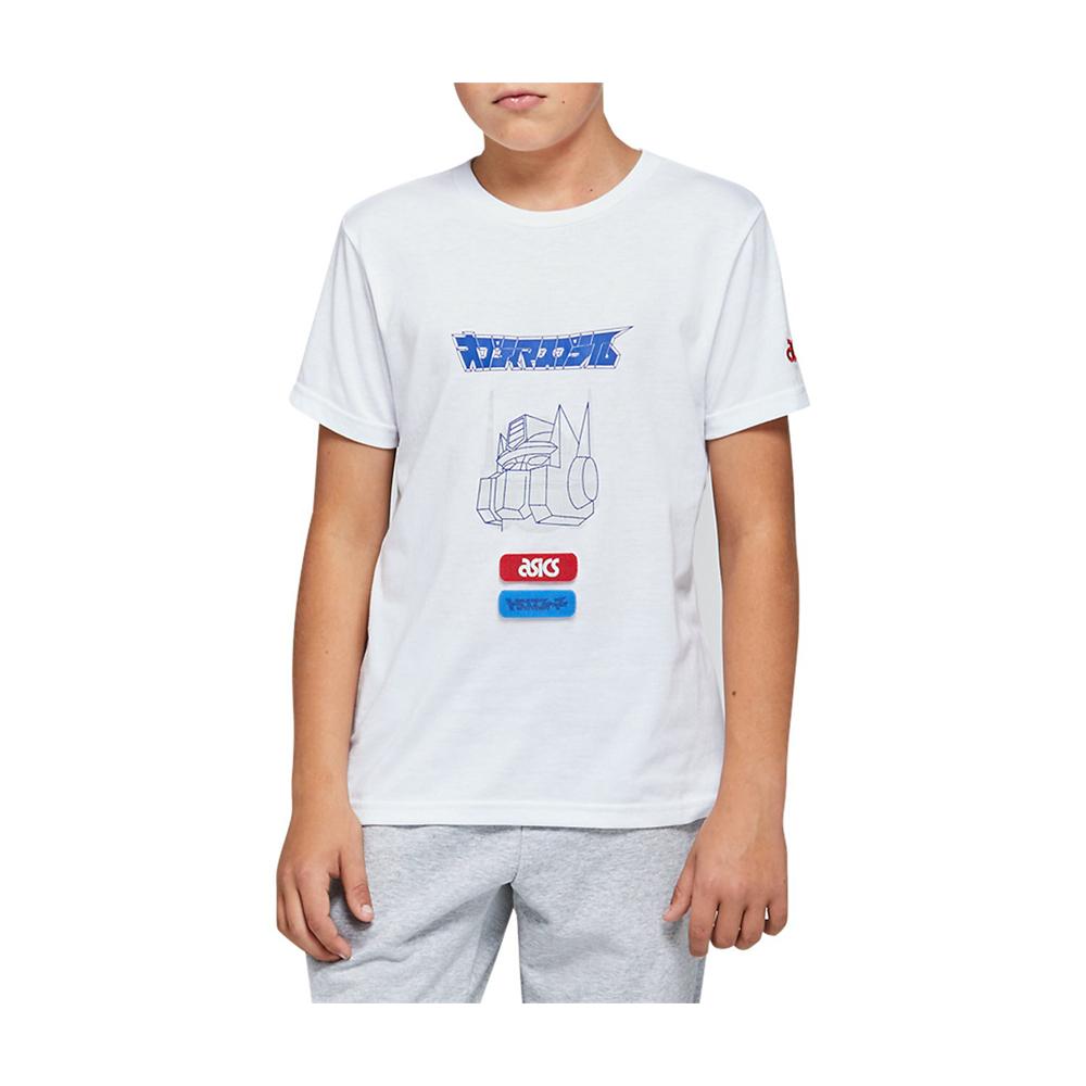 ASICS 兒童短袖上衣 x 變形金剛聯名 2194A002-101(白)
