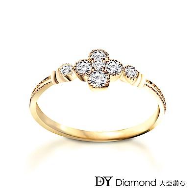DY Diamond 大亞鑽石 L.Y.A輕珠寶 18黃K金 花語鑽石線戒