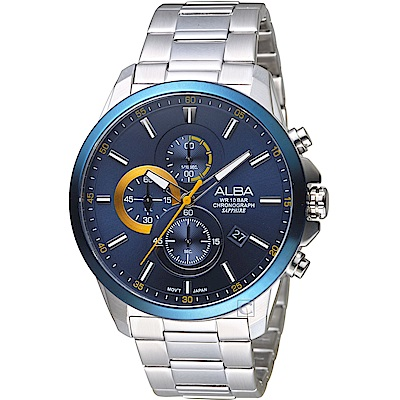 ALBA雅柏街頭潮流計時腕錶(AM3663X1)-藍