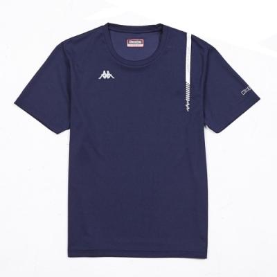 KAPPA義大利 精典時尚型男吸溼排汗圓領衫 丈青304TY60B29
