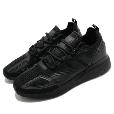 adidas 休閒鞋 ZX 2K Boost 襪套式 男鞋 愛迪達 三葉草 緩震 流行 穿搭推薦 黑 GY2689