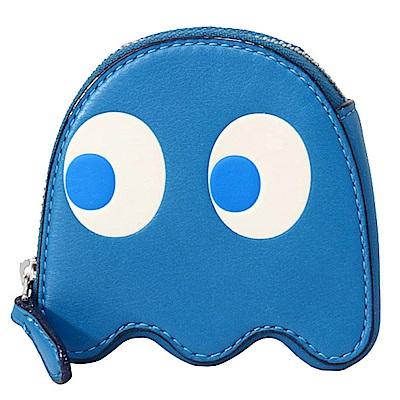 COACH PAC-MAN 小精靈造型天藍色零錢包
