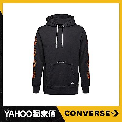 CONVERSE-男休閒帽T 10007504A03-黑