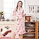 睡袍 櫻桃甜心 極暖高克重超柔軟水貂絨女性睡袍(R79226-2粉)-蕾妮塔塔 product thumbnail 1