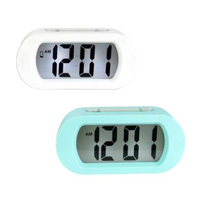 NAKAY 北歐風數字電子鐘/鬧鐘(TD-385)LCD背光(2入組)