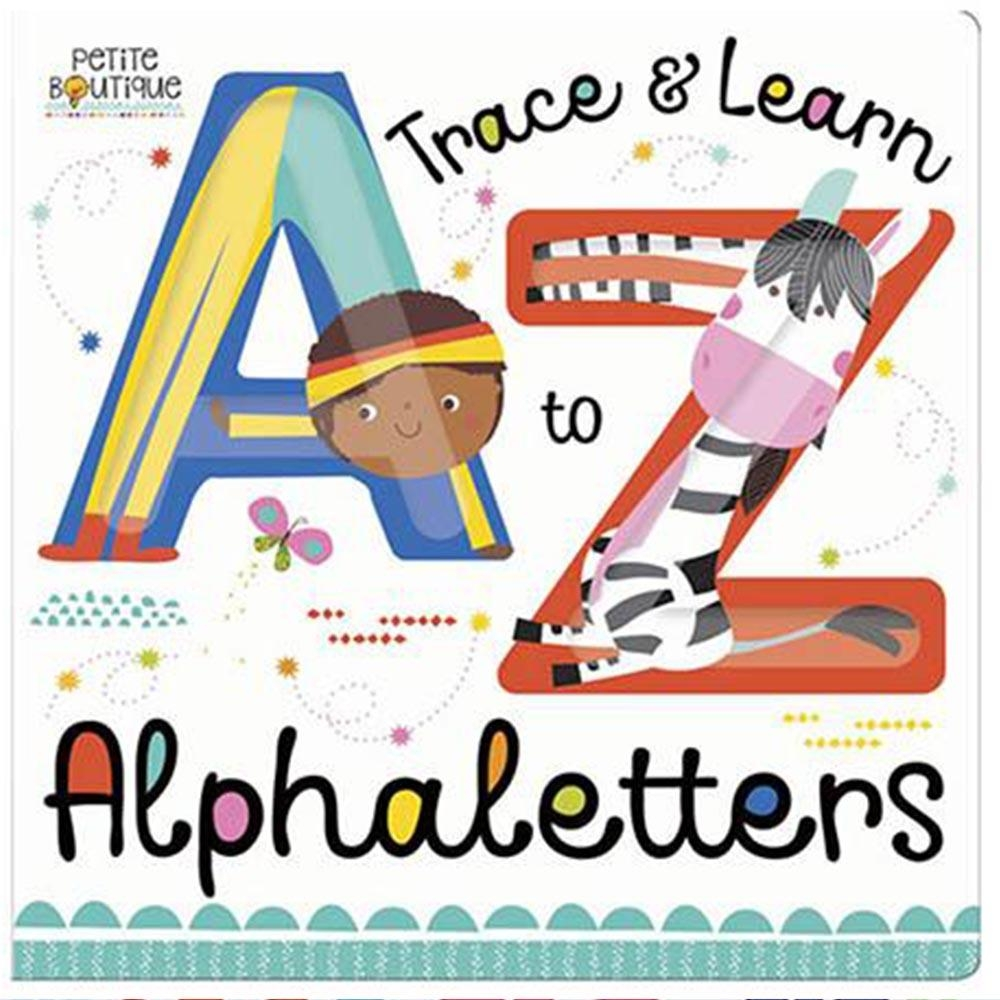 Trace And Learn Alphaletters 認識英文字母硬頁學習書